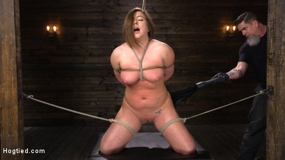 Photo number 6 from Maddy O'Reilly: Naughty Slut Submits to The Pope shot for Hogtied on Kink.com. Featuring Maddy O'Reilly in hardcore BDSM & Fetish porn.