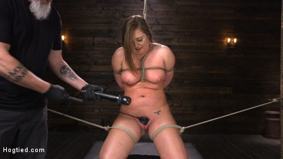 Photo number 8 from Maddy O'Reilly: Naughty Slut Submits to The Pope shot for Hogtied on Kink.com. Featuring Maddy O'Reilly in hardcore BDSM & Fetish porn.