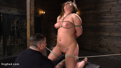 Photo number 10 from Maddy O'Reilly: Naughty Slut Submits to The Pope shot for Hogtied on Kink.com. Featuring Maddy O'Reilly in hardcore BDSM & Fetish porn.