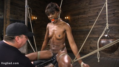 Photo number 14 from Ana Foxxx: Racked, Bound, and Tormented shot for Hogtied on Kink.com. Featuring Ana Foxxx in hardcore BDSM & Fetish porn.