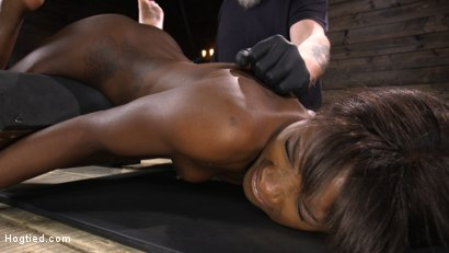 Photo number 18 from Ana Foxxx: Racked, Bound, and Tormented shot for Hogtied on Kink.com. Featuring Ana Foxxx in hardcore BDSM & Fetish porn.
