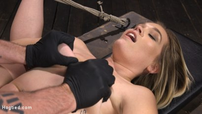 Photo number 13 from Katie Kush: Blonde, All Natural, Flexible Slut in Grueling Bondage shot for Hogtied on Kink.com. Featuring Katie Kush in hardcore BDSM & Fetish porn.