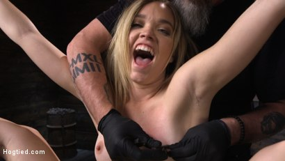 Photo number 24 from Katie Kush: Blonde, All Natural, Flexible Slut in Grueling Bondage shot for Hogtied on Kink.com. Featuring Katie Kush in hardcore BDSM & Fetish porn.