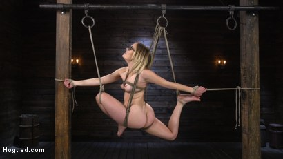 Photo number 6 from Katie Kush: Blonde, All Natural, Flexible Slut in Grueling Bondage shot for Hogtied on Kink.com. Featuring Katie Kush in hardcore BDSM & Fetish porn.
