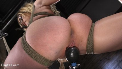 Photo number 7 from Katie Kush: Blonde, All Natural, Flexible Slut in Grueling Bondage shot for Hogtied on Kink.com. Featuring Katie Kush in hardcore BDSM & Fetish porn.