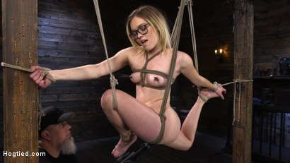 Photo number 8 from Katie Kush: Blonde, All Natural, Flexible Slut in Grueling Bondage shot for Hogtied on Kink.com. Featuring Katie Kush in hardcore BDSM & Fetish porn.