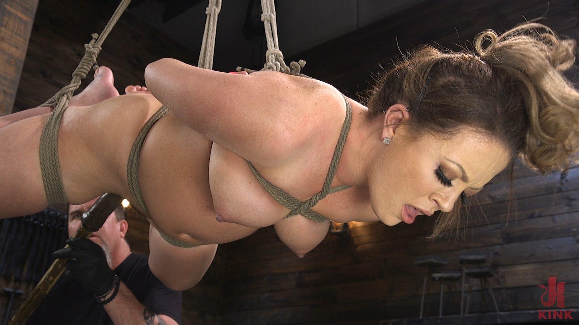 Photo number 12 from Carmen Valentina: The Brutal Bondage Basics! shot for Hogtied on Kink.com. Featuring Carmen Valentina in hardcore BDSM & Fetish porn.