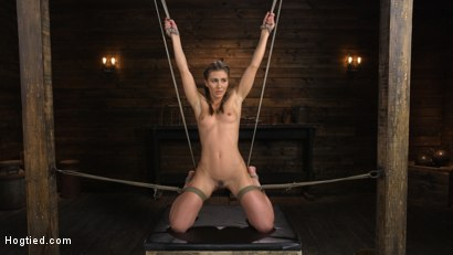 Photo number 1 from Paige Owens: Hot, Young, and Willing to Suffer in Bondage shot for Hogtied on Kink.com. Featuring Paige Owens in hardcore BDSM & Fetish porn.