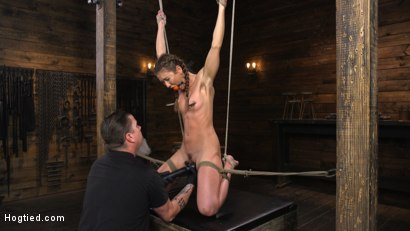 Photo number 6 from Paige Owens: Hot, Young, and Willing to Suffer in Bondage shot for Hogtied on Kink.com. Featuring Paige Owens in hardcore BDSM & Fetish porn.