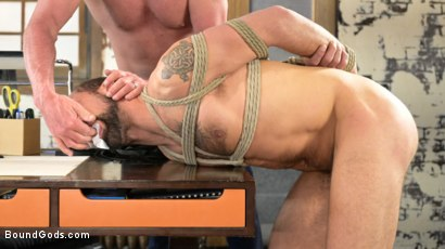 Photo number 12 from The Savage Company Ltd: Dale Savage Punishes Employee, DJ shot for Bound Gods on Kink.com. Featuring Dale Savage and DJ in hardcore BDSM & Fetish porn.