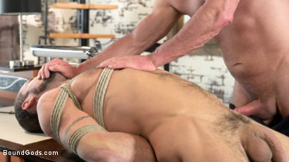 Photo number 14 from The Savage Company Ltd: Dale Savage Punishes Employee, DJ shot for Bound Gods on Kink.com. Featuring Dale Savage and DJ in hardcore BDSM & Fetish porn.