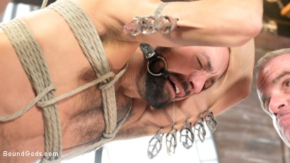 Photo number 17 from The Savage Company Ltd: Dale Savage Punishes Employee, DJ shot for Bound Gods on Kink.com. Featuring Dale Savage and DJ in hardcore BDSM & Fetish porn.