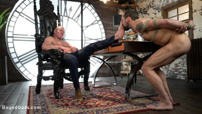 Photo number 9 from The Savage Company Ltd: Dale Savage Punishes Employee, DJ shot for Bound Gods on Kink.com. Featuring Dale Savage and DJ in hardcore BDSM & Fetish porn.