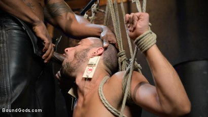 Photo number 10 from Rat in a Cage: Chance Summerlin Serves Leather Muscle God Max Konnor shot for Bound Gods on Kink.com. Featuring Max Konnor and Chance Summerlin in hardcore BDSM & Fetish porn.