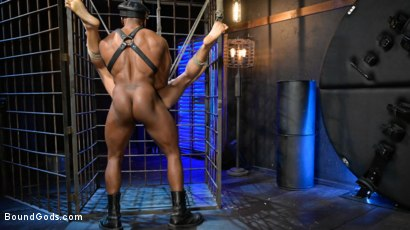 Photo number 17 from Rat in a Cage: Chance Summerlin Serves Leather Muscle God Max Konnor shot for Bound Gods on Kink.com. Featuring Max Konnor and Chance Summerlin in hardcore BDSM & Fetish porn.