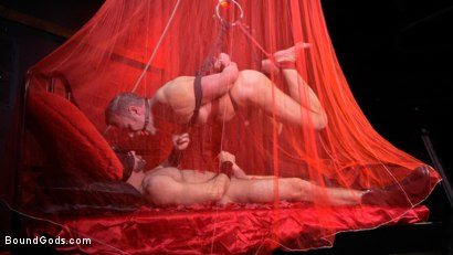 Photo number 14 from Bound Valentine: Alex Mecum Covered in Wax, Suspended, Pumped, Fucked shot for Bound Gods on Kink.com. Featuring Ricky Larkin and Alex Mecum in hardcore BDSM & Fetish porn.