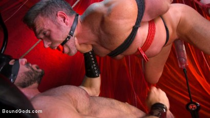 Photo number 17 from Bound Valentine: Alex Mecum Covered in Wax, Suspended, Pumped, Fucked shot for Bound Gods on Kink.com. Featuring Ricky Larkin and Alex Mecum in hardcore BDSM & Fetish porn.
