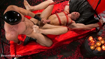 Photo number 23 from Bound Valentine: Alex Mecum Covered in Wax, Suspended, Pumped, Fucked shot for Bound Gods on Kink.com. Featuring Ricky Larkin and Alex Mecum in hardcore BDSM & Fetish porn.