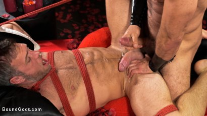 Photo number 27 from Bound Valentine: Alex Mecum Covered in Wax, Suspended, Pumped, Fucked shot for Bound Gods on Kink.com. Featuring Ricky Larkin and Alex Mecum in hardcore BDSM & Fetish porn.