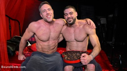 Photo number 30 from Bound Valentine: Alex Mecum Covered in Wax, Suspended, Pumped, Fucked shot for Bound Gods on Kink.com. Featuring Ricky Larkin and Alex Mecum in hardcore BDSM & Fetish porn.