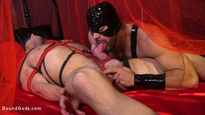 Photo number 3 from Bound Valentine: Alex Mecum Covered in Wax, Suspended, Pumped, Fucked shot for Bound Gods on Kink.com. Featuring Ricky Larkin and Alex Mecum in hardcore BDSM & Fetish porn.