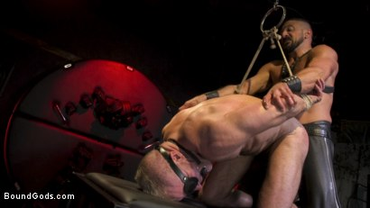 Photo number 15 from Power Fuck: Hot Leather Men Inflict Muscle Domination & Intense Pain shot for Bound Gods on Kink.com. Featuring Marco Napoli and Dale Savage in hardcore BDSM & Fetish porn.