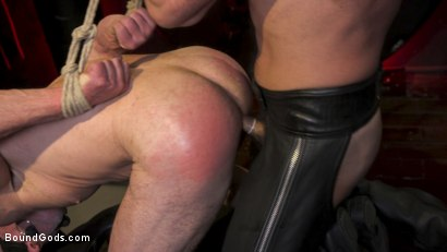 Photo number 16 from Power Fuck: Hot Leather Men Inflict Muscle Domination & Intense Pain shot for Bound Gods on Kink.com. Featuring Marco Napoli and Dale Savage in hardcore BDSM & Fetish porn.