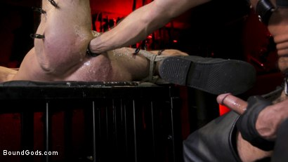 Photo number 19 from Power Fuck: Hot Leather Men Inflict Muscle Domination & Intense Pain shot for Bound Gods on Kink.com. Featuring Marco Napoli and Dale Savage in hardcore BDSM & Fetish porn.