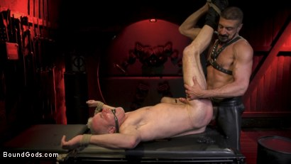 Photo number 22 from Power Fuck: Hot Leather Men Inflict Muscle Domination & Intense Pain shot for Bound Gods on Kink.com. Featuring Marco Napoli and Dale Savage in hardcore BDSM & Fetish porn.
