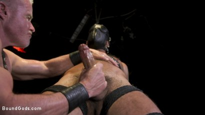 Photo number 3 from Power Fuck: Hot Leather Men Inflict Muscle Domination & Intense Pain shot for Bound Gods on Kink.com. Featuring Marco Napoli and Dale Savage in hardcore BDSM & Fetish porn.