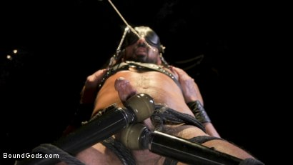 Photo number 5 from Power Fuck: Hot Leather Men Inflict Muscle Domination & Intense Pain shot for Bound Gods on Kink.com. Featuring Marco Napoli and Dale Savage in hardcore BDSM & Fetish porn.