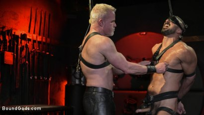 Photo number 6 from Power Fuck: Hot Leather Men Inflict Muscle Domination & Intense Pain shot for Bound Gods on Kink.com. Featuring Marco Napoli and Dale Savage in hardcore BDSM & Fetish porn.