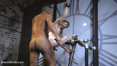 Photo number 14 from Cheating Slut: Nick Milani Submits to Sharok and His Hard Cock shot for Bound Gods on Kink.com. Featuring Sharok and Nick Milani in hardcore BDSM & Fetish porn.