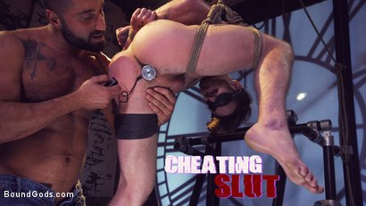 Cheating Slut: Nick Milani Submits to Sharok and His Hard Cock