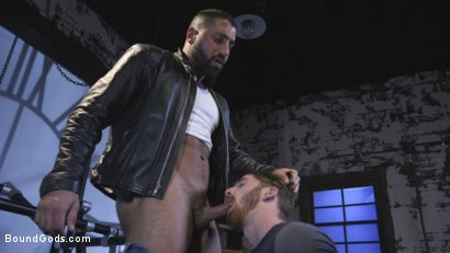 Photo number 4 from Cheating Slut: Nick Milani Submits to Sharok and His Hard Cock shot for Bound Gods on Kink.com. Featuring Sharok and Nick Milani in hardcore BDSM & Fetish porn.