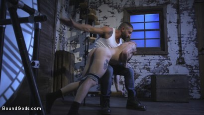 Photo number 6 from Cheating Slut: Nick Milani Submits to Sharok and His Hard Cock shot for Bound Gods on Kink.com. Featuring Sharok and Nick Milani in hardcore BDSM & Fetish porn.