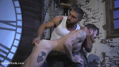 Photo number 8 from Cheating Slut: Nick Milani Submits to Sharok and His Hard Cock shot for Bound Gods on Kink.com. Featuring Sharok and Nick Milani in hardcore BDSM & Fetish porn.