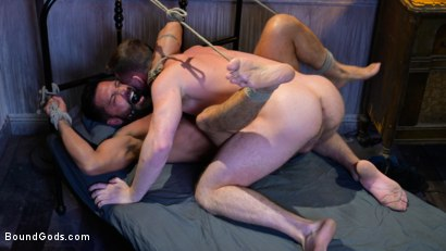 Photo number 10 from Housebroken: Beefy Underwear Pervert Breaks Into The Wrong House shot for Bound Gods on Kink.com. Featuring Mac Savage and Dominic Pacifico in hardcore BDSM & Fetish porn.