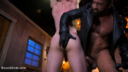 Photo number 12 from Housebroken: Beefy Underwear Pervert Breaks Into The Wrong House shot for Bound Gods on Kink.com. Featuring Mac Savage and Dominic Pacifico in hardcore BDSM & Fetish porn.