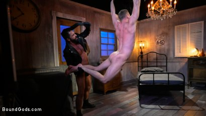 Photo number 15 from Housebroken: Beefy Underwear Pervert Breaks Into The Wrong House shot for Bound Gods on Kink.com. Featuring Mac Savage and Dominic Pacifico in hardcore BDSM & Fetish porn.