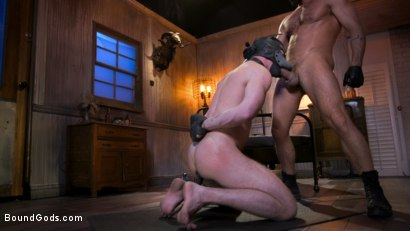 Photo number 19 from Housebroken: Beefy Underwear Pervert Breaks Into The Wrong House shot for Bound Gods on Kink.com. Featuring Mac Savage and Dominic Pacifico in hardcore BDSM & Fetish porn.