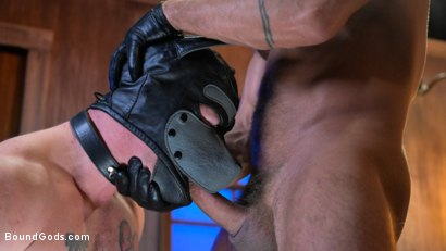 Photo number 20 from Housebroken: Beefy Underwear Pervert Breaks Into The Wrong House shot for Bound Gods on Kink.com. Featuring Mac Savage and Dominic Pacifico in hardcore BDSM & Fetish porn.