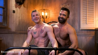 Photo number 29 from Housebroken: Beefy Underwear Pervert Breaks Into The Wrong House shot for Bound Gods on Kink.com. Featuring Mac Savage and Dominic Pacifico in hardcore BDSM & Fetish porn.