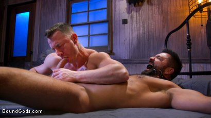 Photo number 7 from Housebroken: Beefy Underwear Pervert Breaks Into The Wrong House shot for Bound Gods on Kink.com. Featuring Mac Savage and Dominic Pacifico in hardcore BDSM & Fetish porn.