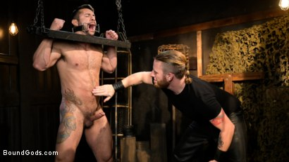 Photo number 1 from Stocked and Cocked: Seth Santoro Beaten and Fucked in a Stockade shot for Bound Gods on Kink.com. Featuring Sebastian Keys, Seth Santoro and Brian Bonds in hardcore BDSM & Fetish porn.