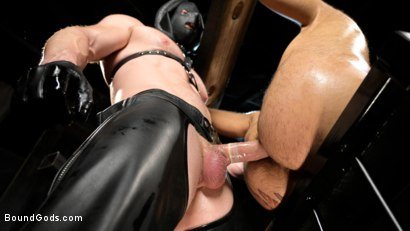 Photo number 11 from Stocked and Cocked: Seth Santoro Beaten and Fucked in a Stockade shot for Bound Gods on Kink.com. Featuring Sebastian Keys, Seth Santoro and Brian Bonds in hardcore BDSM & Fetish porn.