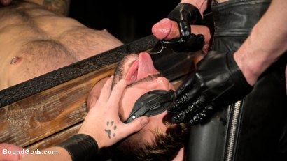Photo number 12 from Stocked and Cocked: Seth Santoro Beaten and Fucked in a Stockade shot for Bound Gods on Kink.com. Featuring Sebastian Keys, Seth Santoro and Brian Bonds in hardcore BDSM & Fetish porn.