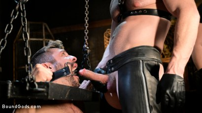 Photo number 4 from Stocked and Cocked: Seth Santoro Beaten and Fucked in a Stockade shot for Bound Gods on Kink.com. Featuring Sebastian Keys, Seth Santoro and Brian Bonds in hardcore BDSM & Fetish porn.
