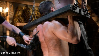 Photo number 5 from Stocked and Cocked: Seth Santoro Beaten and Fucked in a Stockade shot for Bound Gods on Kink.com. Featuring Sebastian Keys, Seth Santoro and Brian Bonds in hardcore BDSM & Fetish porn.