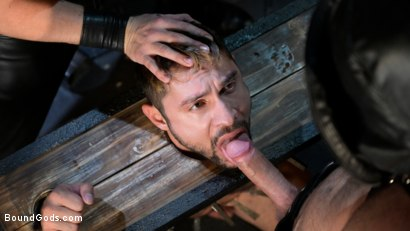 Photo number 10 from Stocked and Cocked: Seth Santoro Beaten and Fucked in a Stockade shot for Bound Gods on Kink.com. Featuring Sebastian Keys, Seth Santoro and Brian Bonds in hardcore BDSM & Fetish porn.